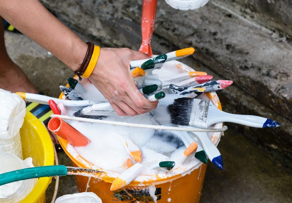How to Clean Latex Paint Off a Paintbrush